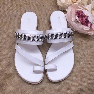 Michael Kors White Sandals 8.5M